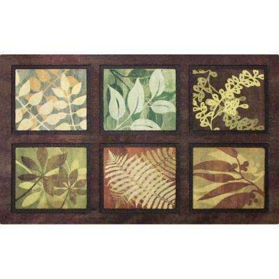 Leaves 22 in. x 36 in. Recycled-Rubber Door Mat