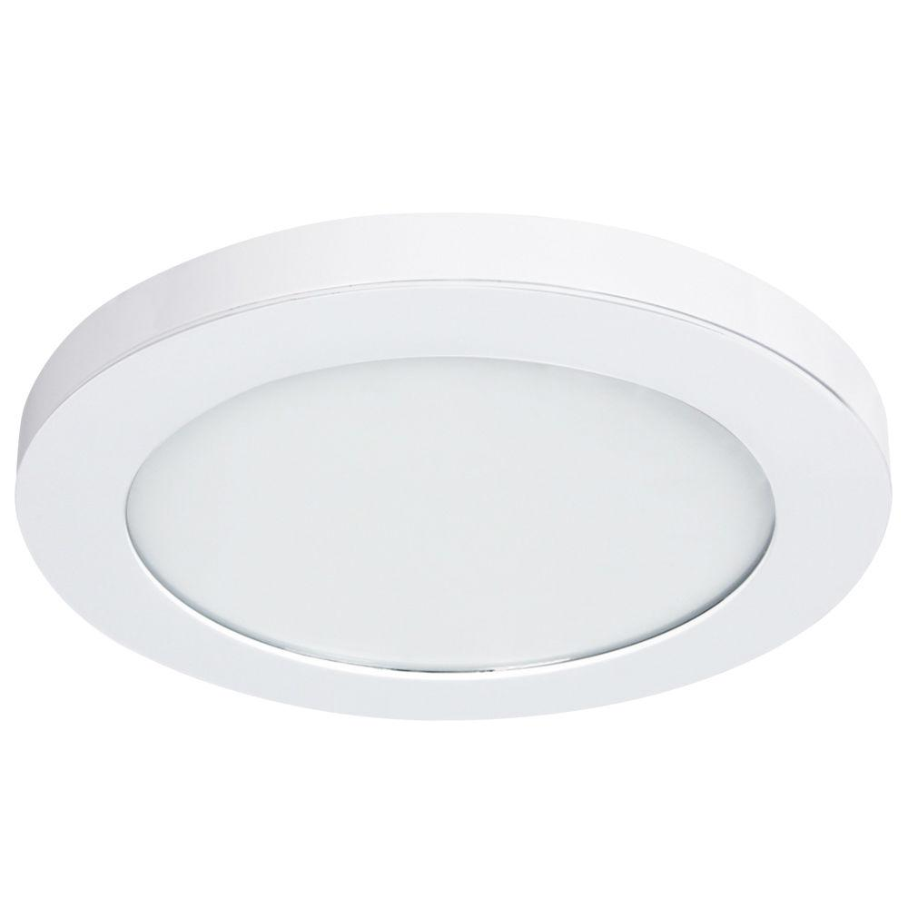 Lithonia lighting 12 in white led low profile residential square white led edge lit flat round panel flushmount aloadofball Gallery
