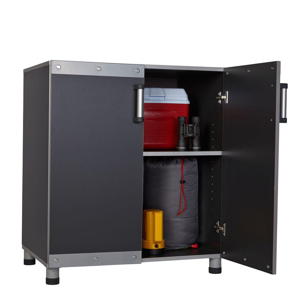 Rubbermaid FastTrack Garage Laminate Cabinet Set with Wall Panel (5-Piece)