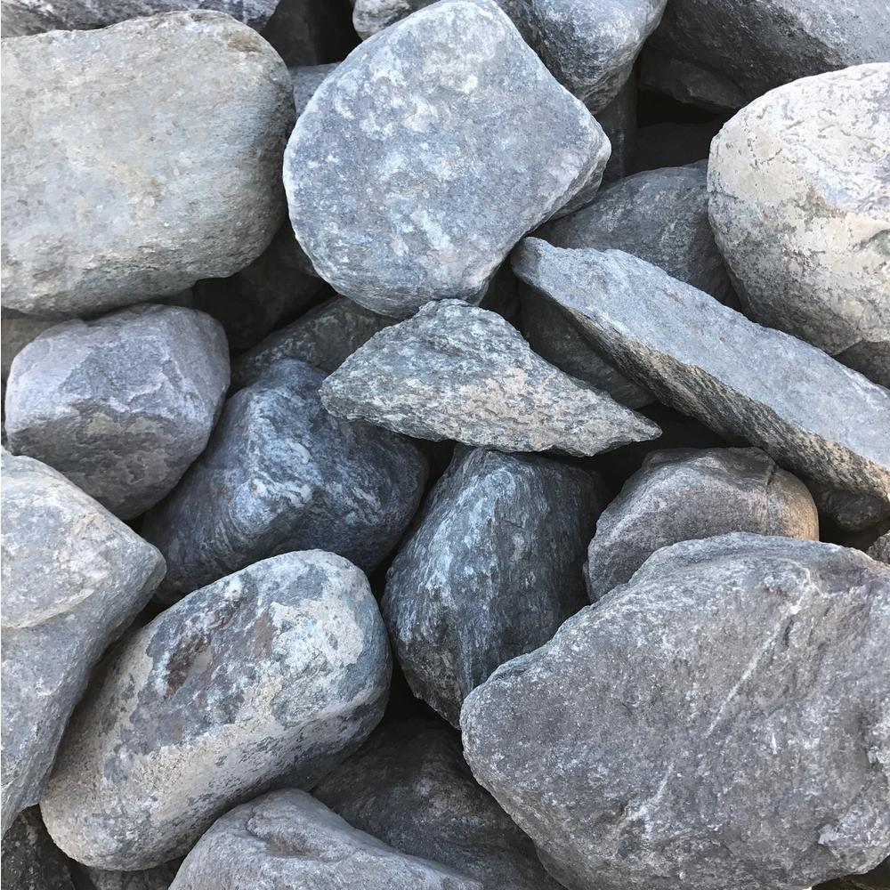 4 in. to 8 in. Blue Granite Landscaping Cobble (2500 lb.