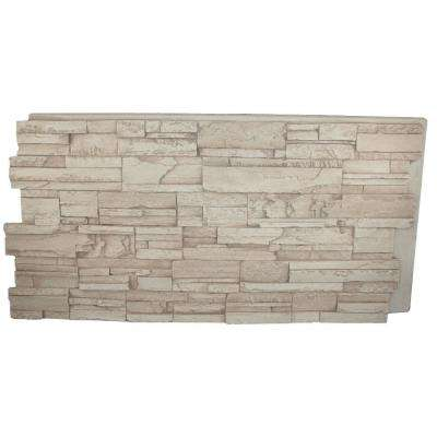 Faux Tennessee 24 in. x 48 in. x 1-1/4 in. Stack Stone Panel Creamy Beige
