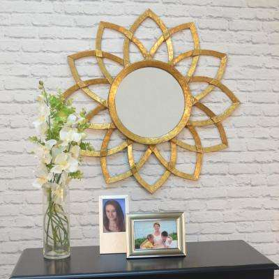 Eleanor Round Antique Gold Decorative Wall Mirror