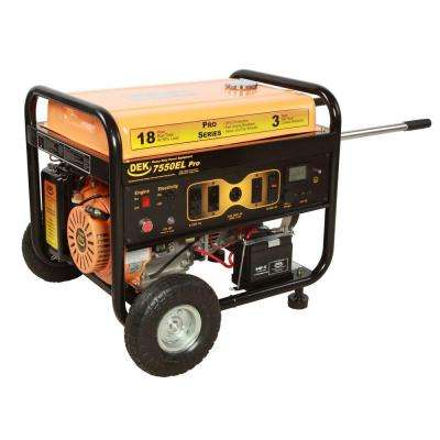 Pro Series 7550-Watt Commercial Duty Gasoline Powered Portable Generator with Electric Start
