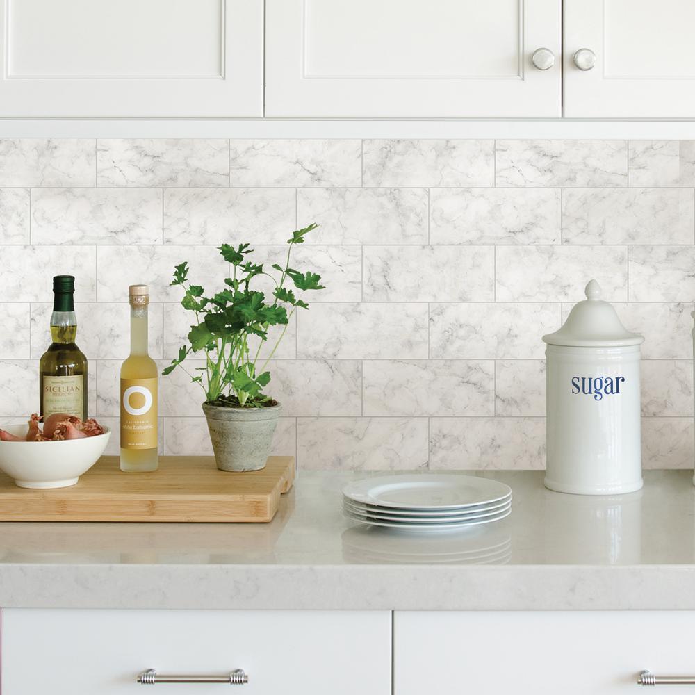 White Marble Tile Wall Lique L