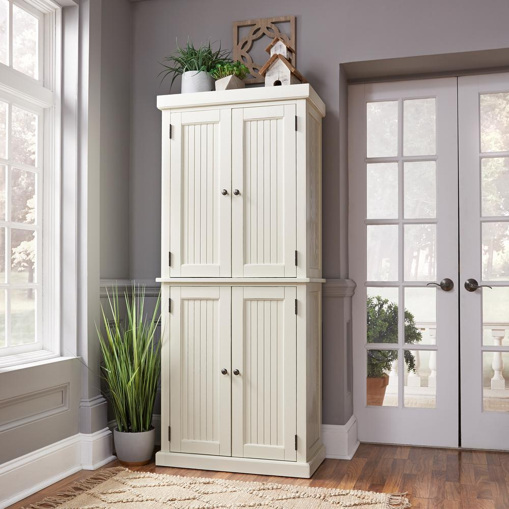 Home Styles Nantucket Distressed White Food Pantry
