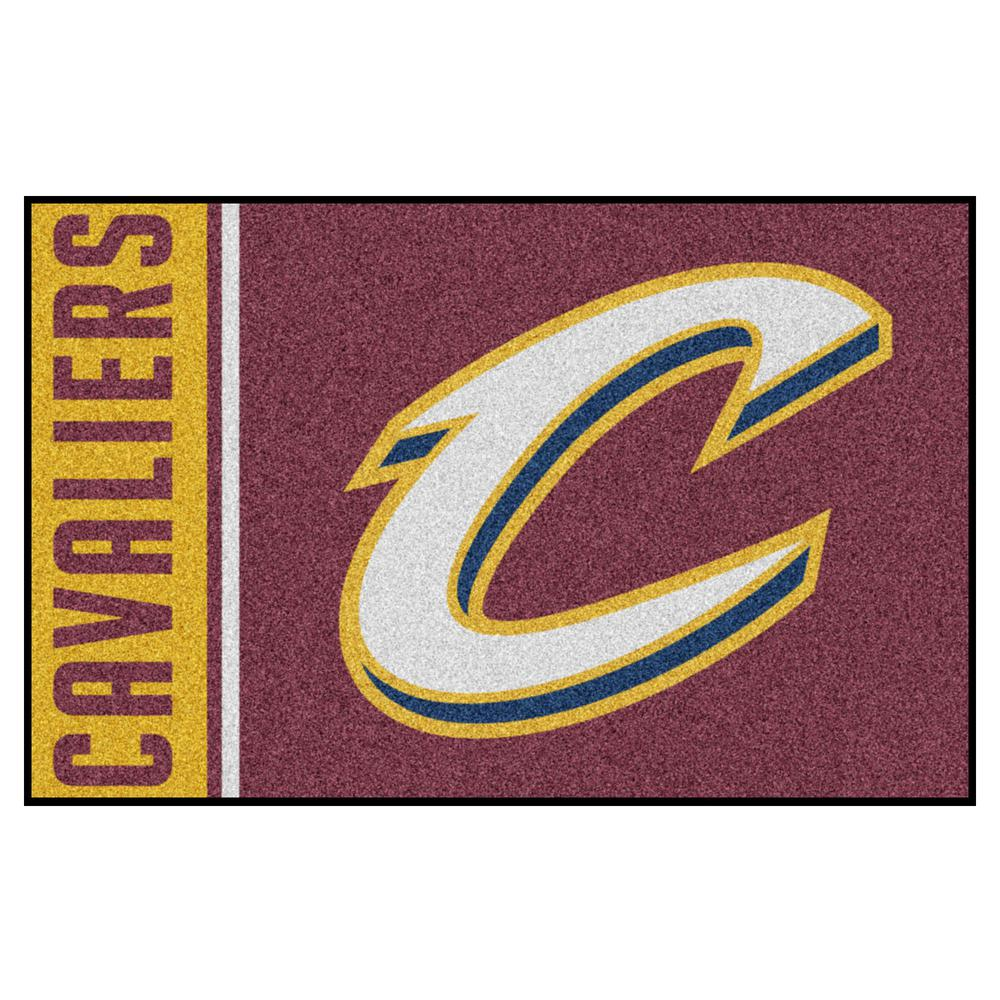 f271a463866 FANMATS NBA Cleveland Cavaliers Burgundy 2 ft. x 3 ft. Area Rug ...