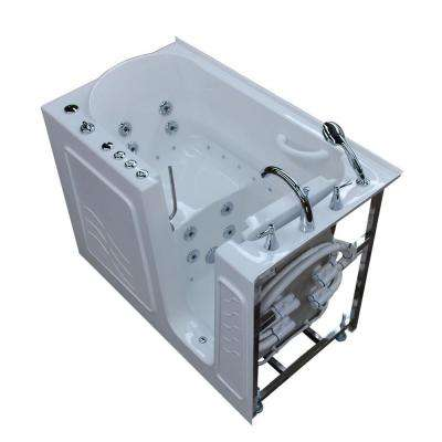 HD Series 53 in. Right Drain Quick Fill Walk-In Whirlpool and Air Bath Tub with Powered Fast Drain in White