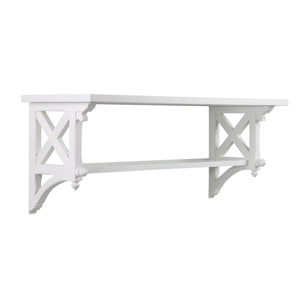 Martha Stewart Living 14.25 in. W Msl Large Picket Fence Country Bracket