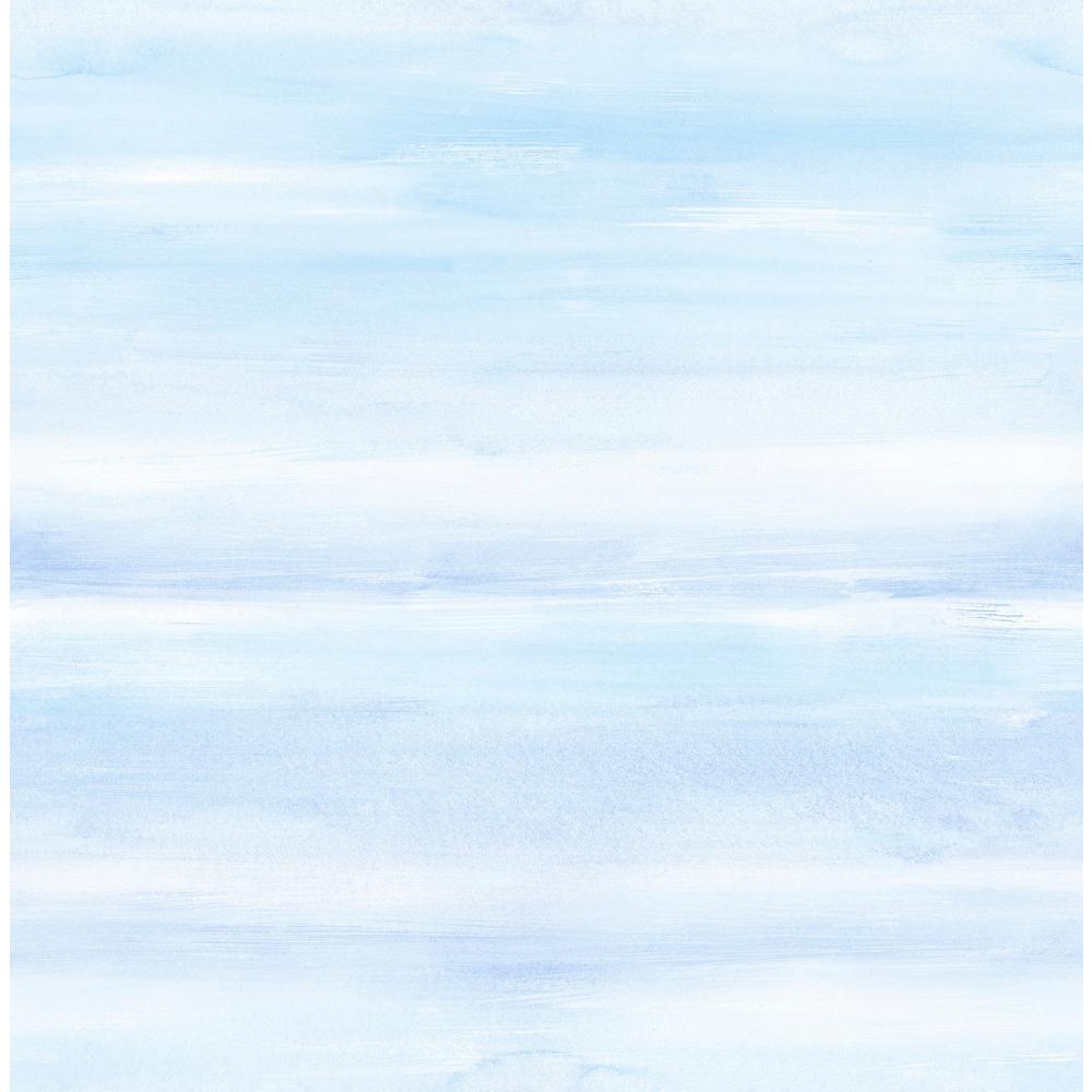 Kids Periwinkle And Sea Mist Watercolor Wash Wallpaper