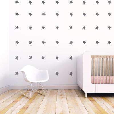 Gray Stars Fabric Wall Decal