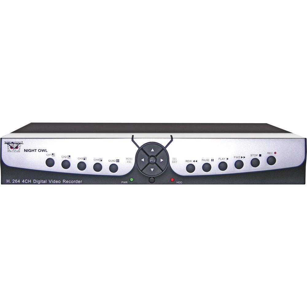 Night Owl 4-Channel H.264 DVR with D1 Recording-DISCONTINUED