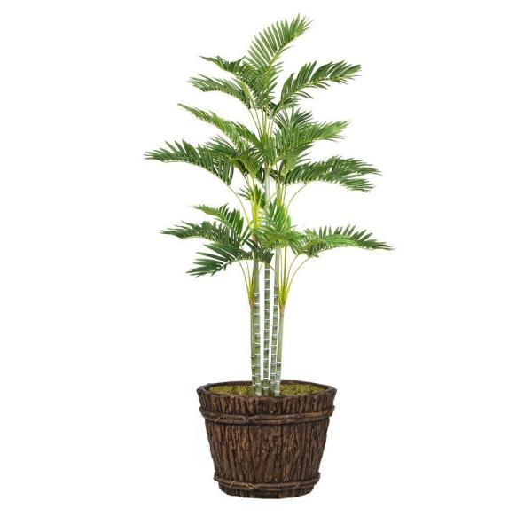 Laura Ashley 76 in. Tall Palm Tree in Planter VHX113217