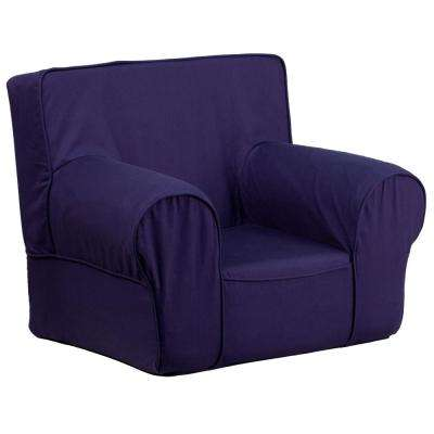 Amazing Small Solid Navy Blue Kids Chair