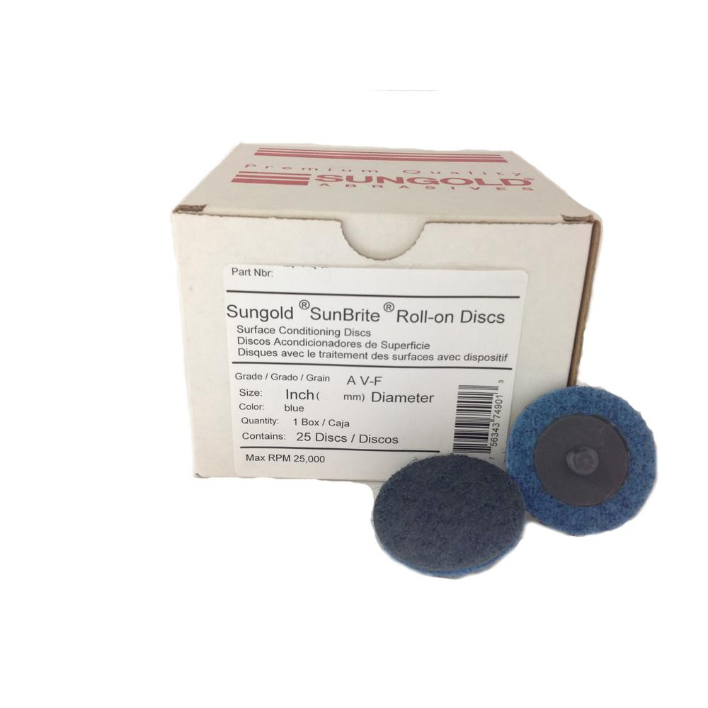 6 in Disc Dia Non-Woven Finishing Disc 3600 RPM 1//2 in 24 Units Aluminum Oxide
