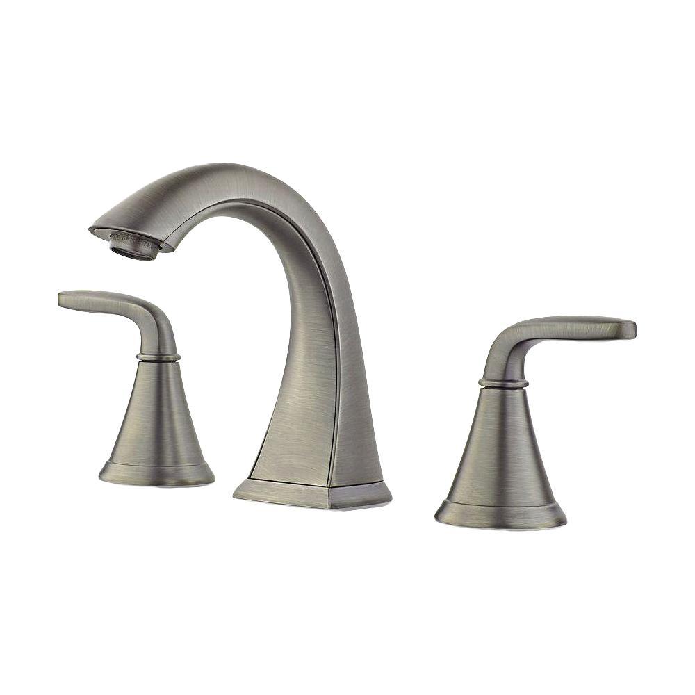 Pasadena 8 in. Widespread 2-Handle Bathroom Faucet in Slate