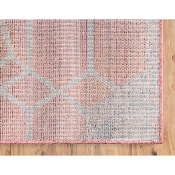 Unique Loom Red 8 Ft X 8 Ft Rainbow Area Rug 3142599 The Home Depot