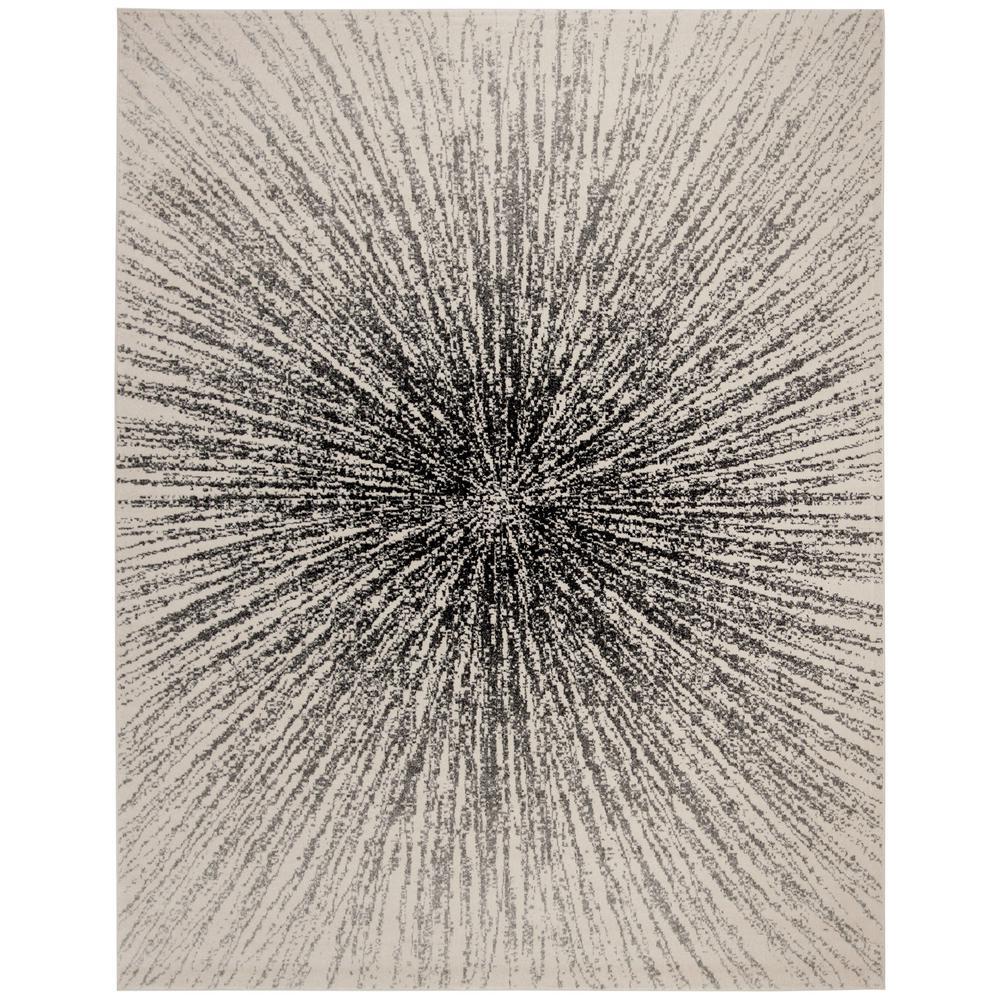 Evoke Black/Ivory 8 ft. x 10 ft. Area Rug