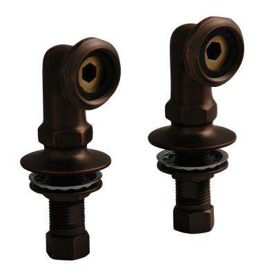2 in. Brass Deck Mount Coupler in Oil Rubbed Bronze