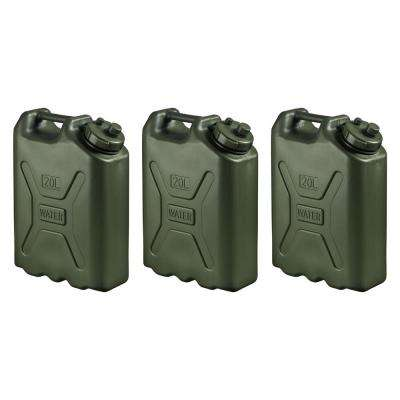 BPA Durable 5 Gal. Portable Water Storage Container in Green (3-Pack)