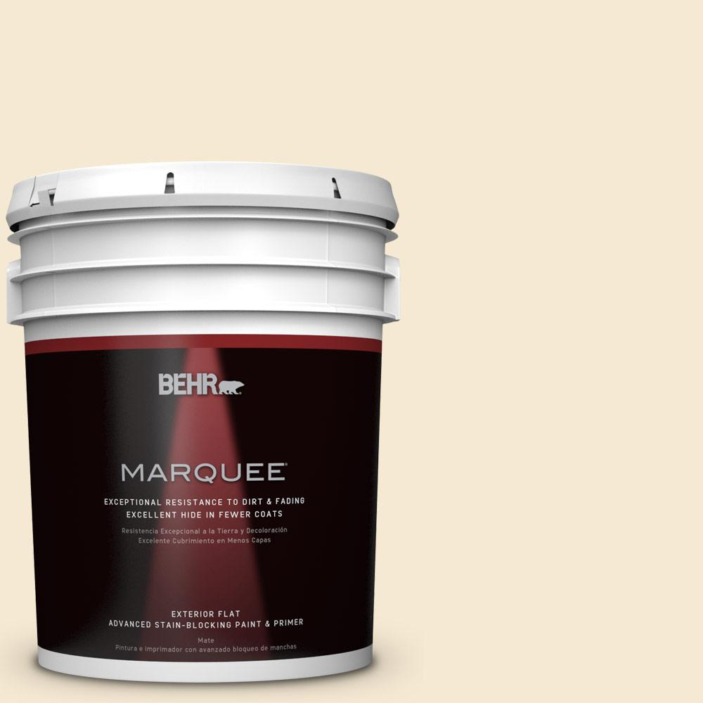 BEHR MARQUEE 5-gal. #YL-W7 Smooth Silk Flat Exterior Paint
