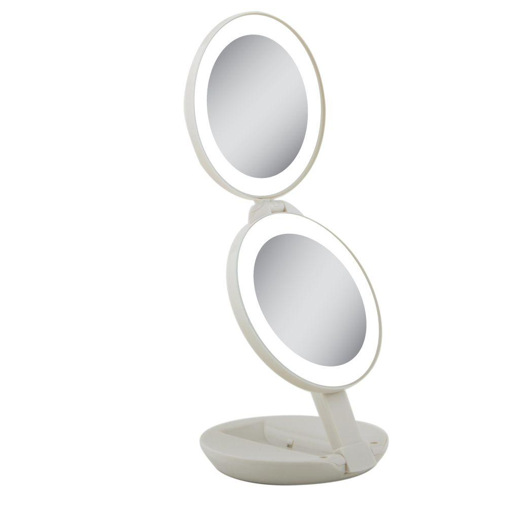 Zadro Next Generation Led Lighted Travel Mirror In Cream