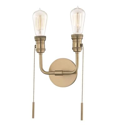 Lexi 2-Light Aged Brass Wall Sconce