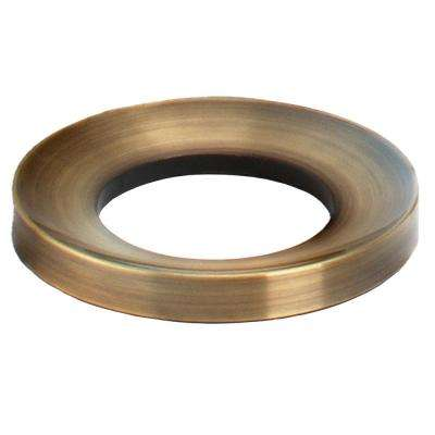 Glass Vessel Bathroom Sink Mounting Ring in Antique Brass