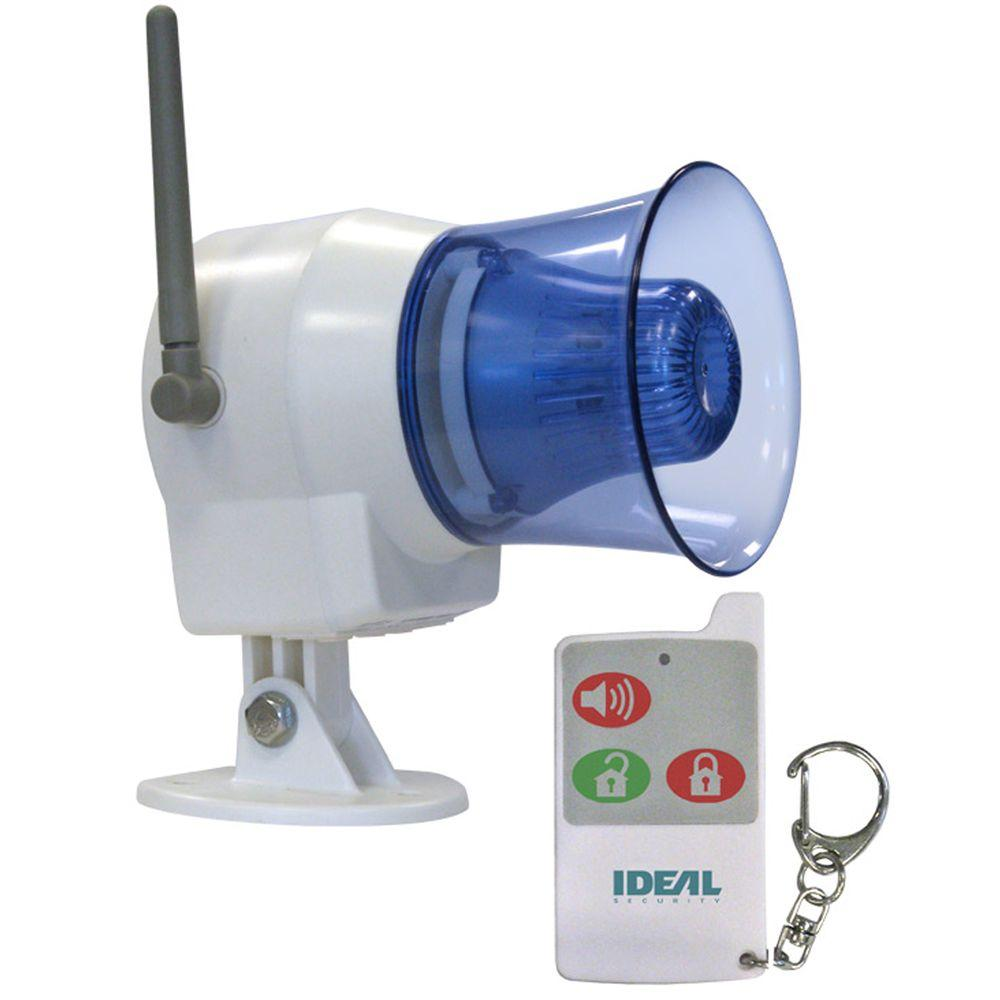 IDEAL Security Wireless Indoor or Outdoor Siren with Remote Control
