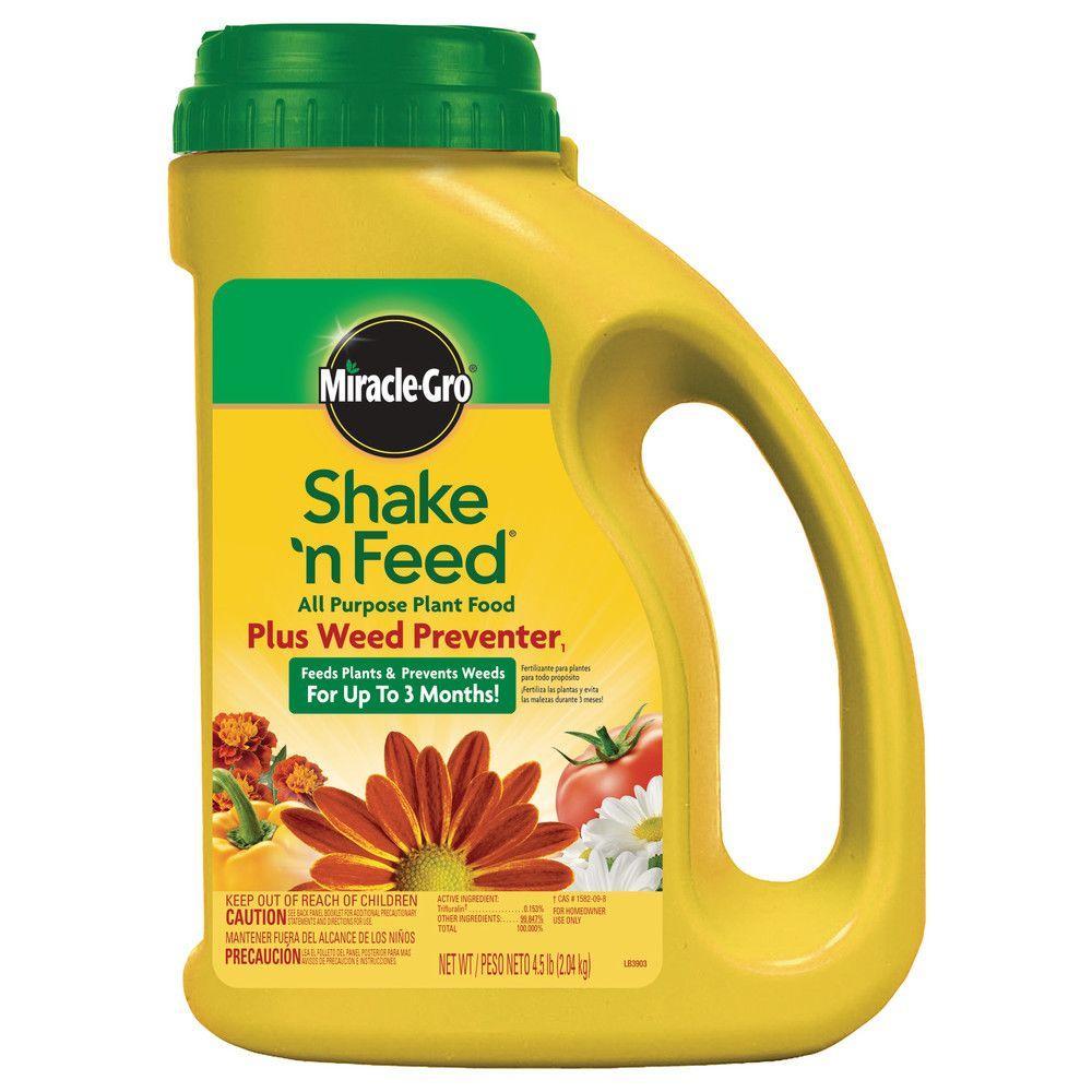 Miracle-Gro Shake'n Feed 4.5 lbs. All-Purpose Plant Food Plus Weed Preventer