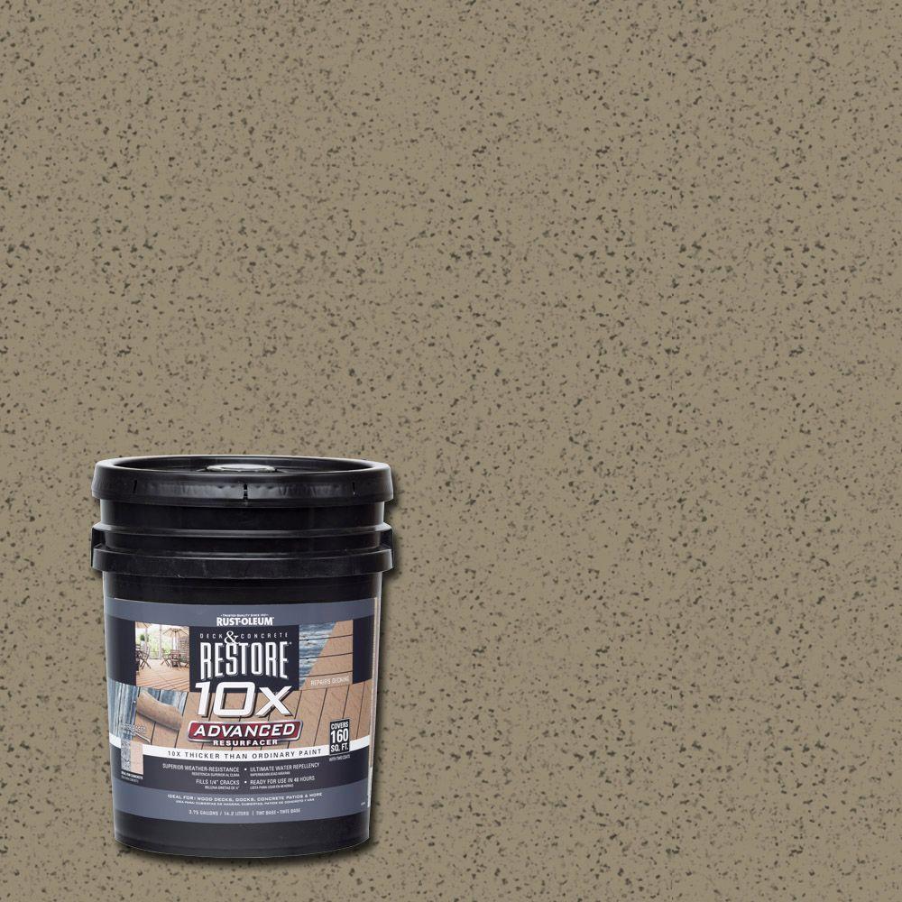 Rust-Oleum Restore 4 gal. 10X Advanced Taupe (Brown) Deck...