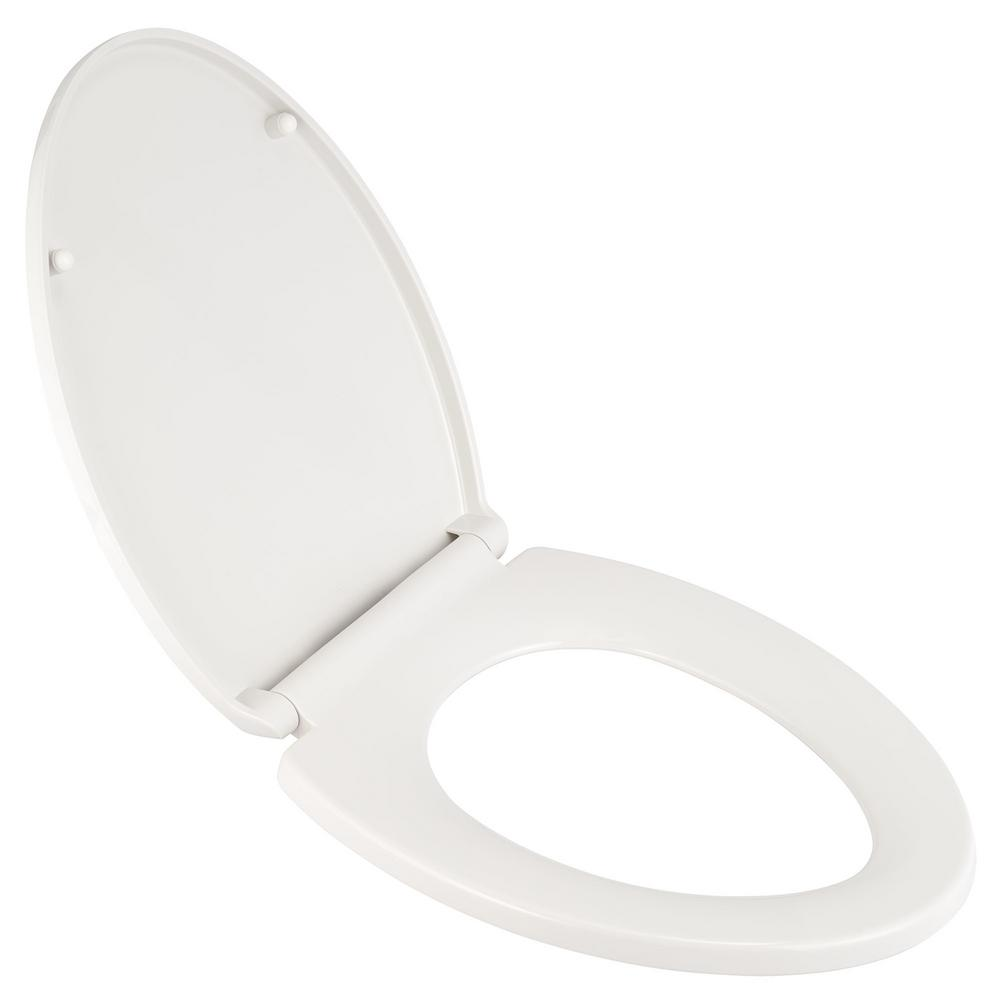 AMERICAN STANDARD Transitional Slow-Close EverClean Elongated Closed Front Toilet Seat in White