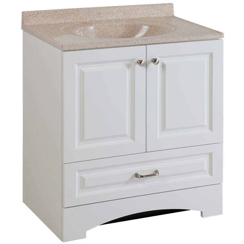 bathroom vanities bay area. Glacier Bay Lancaster 30 In. W Vanity In White With Colorpoint Top  Maui Bathroom Vanities Bay Area
