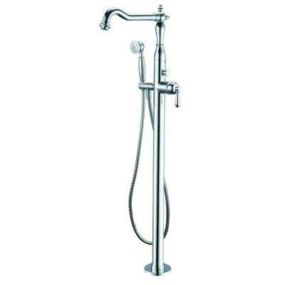 Single-Handle Freestanding Tub Faucet in Polished Chrome