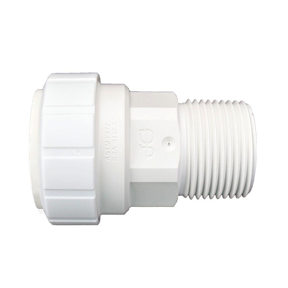 1 in. x 1 in. Plastic Push-to-Connect Male Connector Contractor Pack