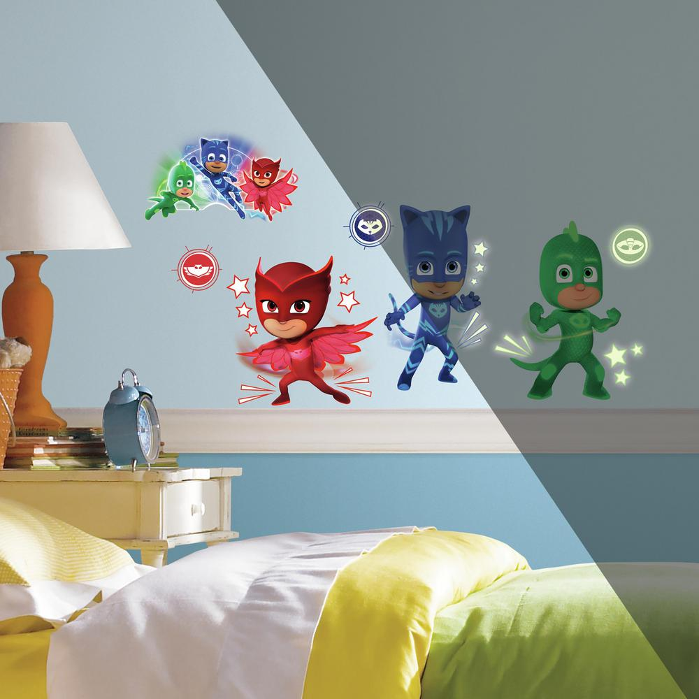 5 in. x 11.5 in. PJ Masks Peel and Stick Wall