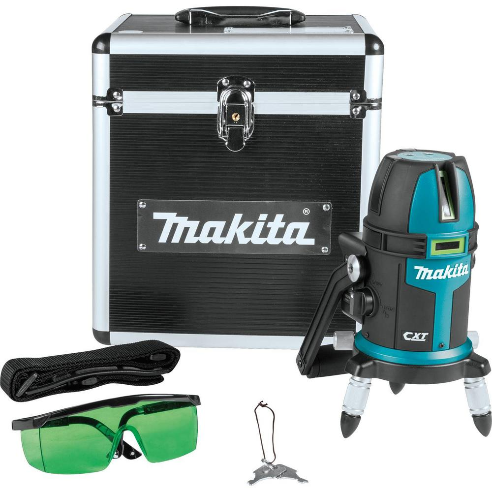 Makita 12-Volt Max CXT Self-Leveling Multi-Line/Plumb Point Green Beam Laser Level (Tool-Only)
