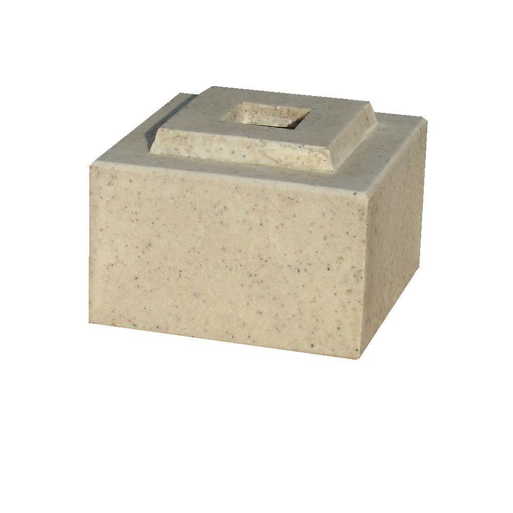 KutStone 30 in. Planter Autumn Leaf Cubic Pedestal Riser