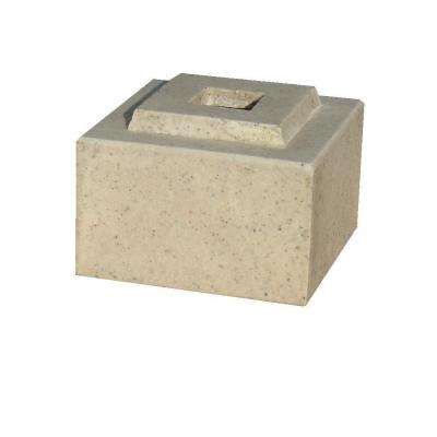 42 in. Planter Autumn Leaf Cubic Pedestal Riser