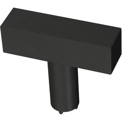 Square Bar 1-1/2 in. (32 mm) Matte Black Cabinet Knob