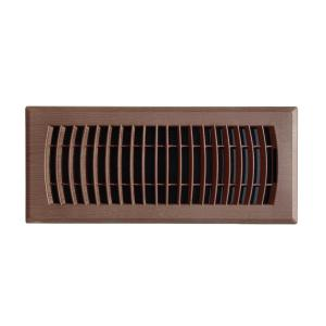 Faux Wood 4 in. x 10 in. Plastic Floor Register in Mahogany Grain