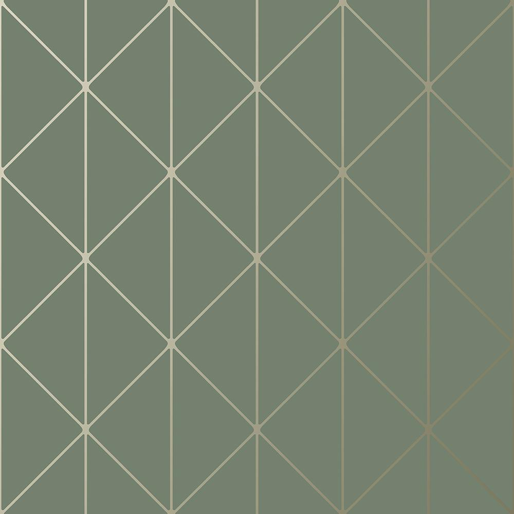 Diamonds Olive Geometric Paper Strippable Wallpaper (Covers 57.8 sq. ft.)