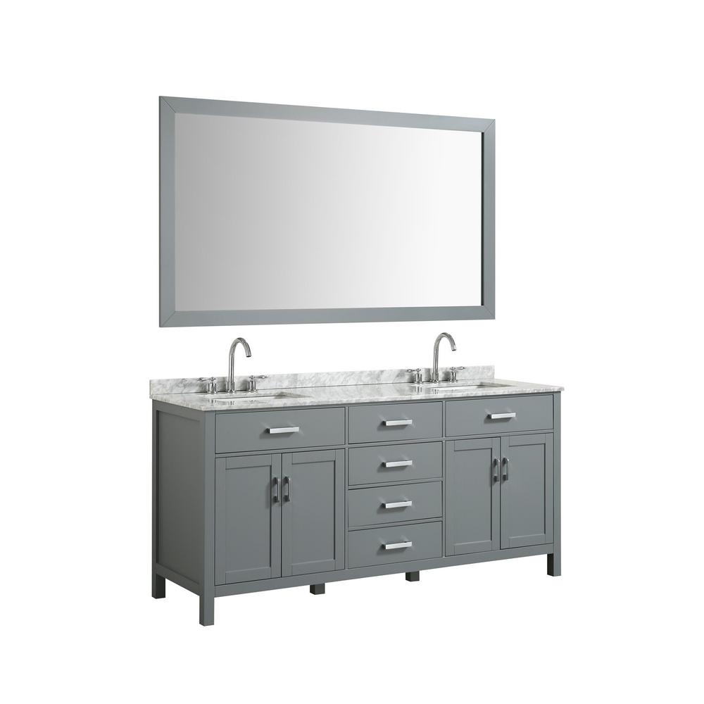 Bath Vanity In White With Marble Top