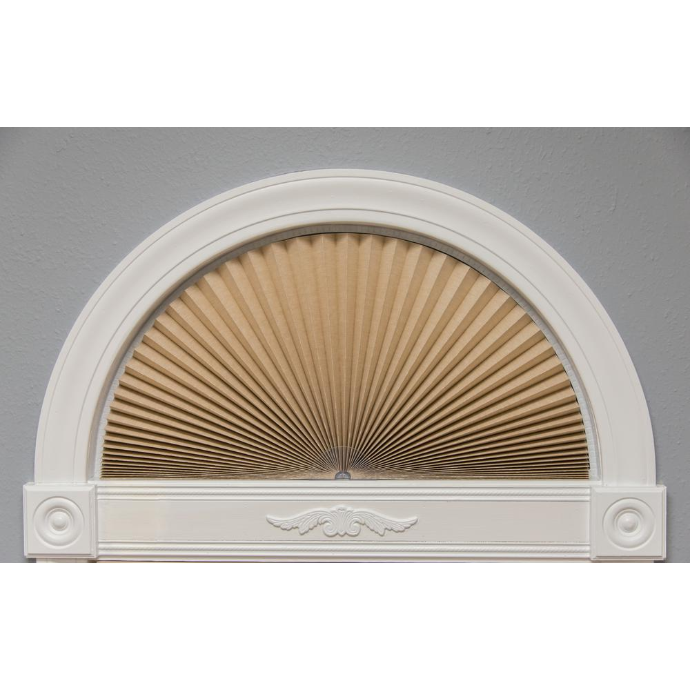 Original Natural Light Blocking Fabric Arch Pleated Shade - 72 in.