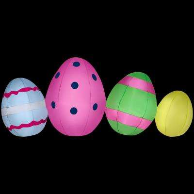 77.95 in. W x 24.80 in. D x 31.50 in. H Inflatable Egg Cluster Collection Scene Airblown