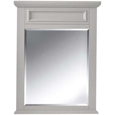 Sadie 28 in. W x 36 in. H Bathroom Single Wall Mirror in Dove Grey