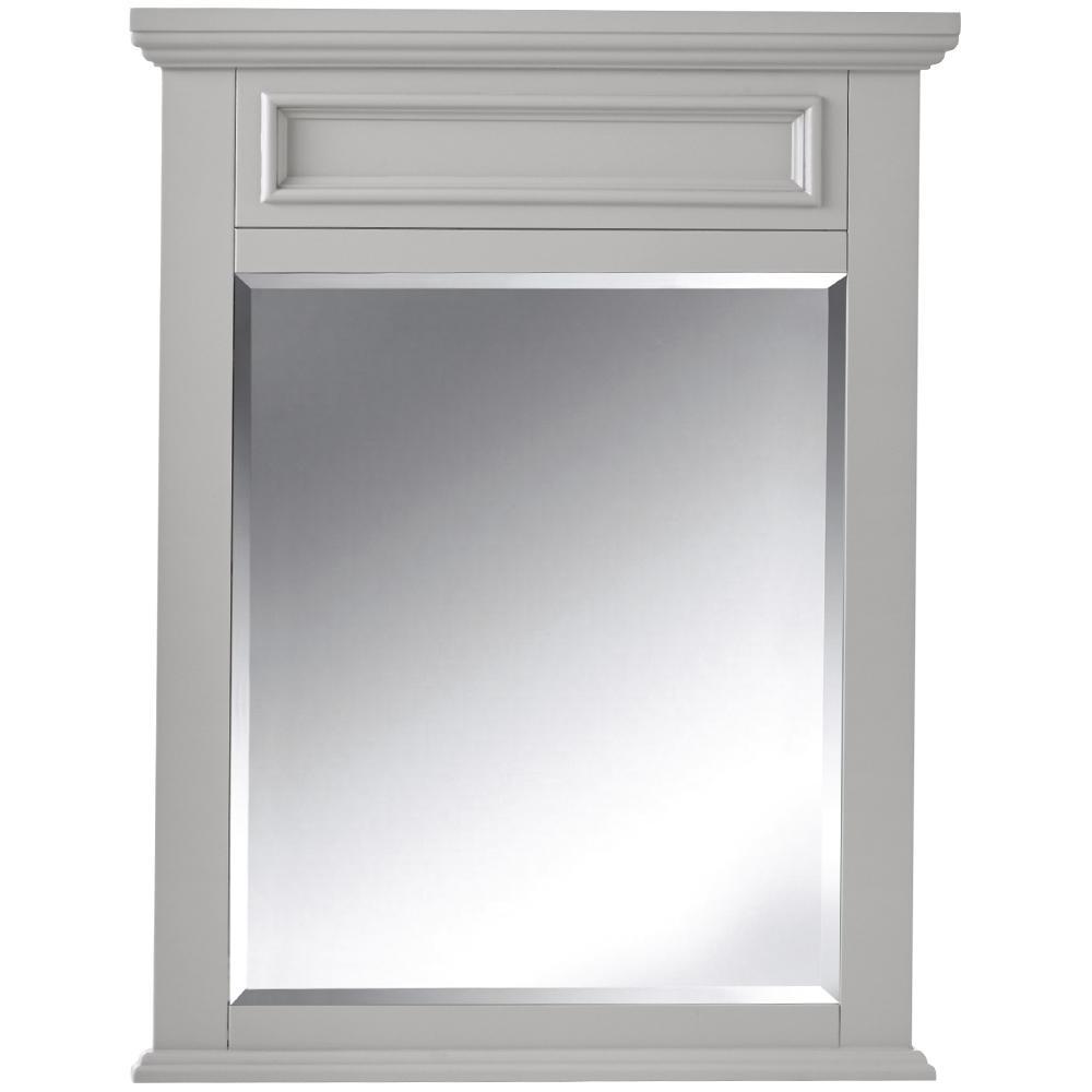 H Bathroom Single Wall Mirror In Dove Part 72