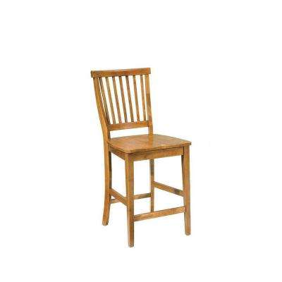 Arts and Crafts 24 in. Cottage Oak Bar Stool