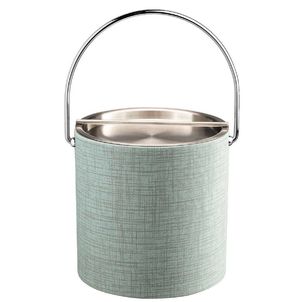 Kraftware Muse Celestial 3 Qt Ice Bucket With Metal Handlebar Lid Bale Handle 53068 The Home Depot