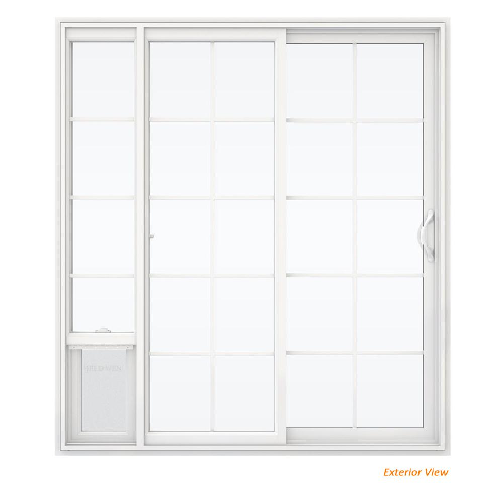 Jeld wen 72 in x 80 in v 2500 white vinyl right hand 15 lite jeld wen 72 in x 80 in v 2500 white vinyl right planetlyrics Gallery