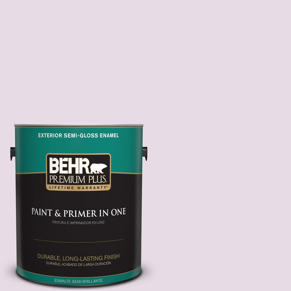 BEHR Premium Plus 1-gal. #680E-2 Iced Mauve Semi-Gloss Enamel Exterior Paint